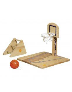 Flamingo Vogelspeelplaats Basketbal - Vogelspeelgoed - 20x20x20 cm Houtkleur