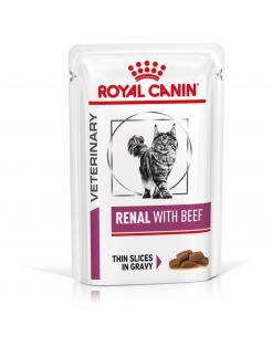 Royal Canin Veterinary Diet Renal Beef Wet - Kattenvoer - 12x85 g