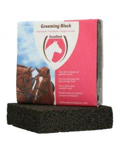 Excellent Poetsblok - Paardenverzorging - 9x9x2.5 cm Zwart