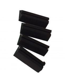 De Boon Onderzetvoetjes - Hondenbench - 8x5x2 cm Zwart