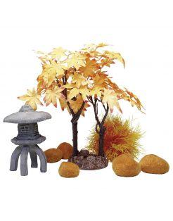 Biorb Decor Set Herfst - Aquarium - Ornament - Oranje Oker Lichtbruin