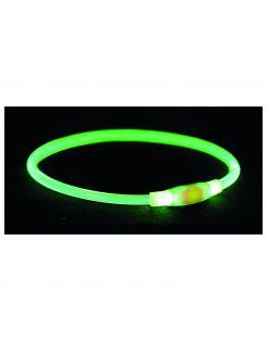 Trixie Usb Flash Lichtgevende Band - Hondenveiligheidslampje - 65 x ø 0.8 cm Groen L-Xl