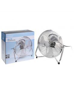 Homestyle Ventilator Vloer Model - Ventilator - Ø30 cm Chroom Zwart