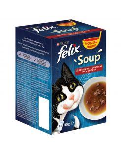 Felix Soup Countryside - Kattenvoer - Rund Kip Lam 6x48 g