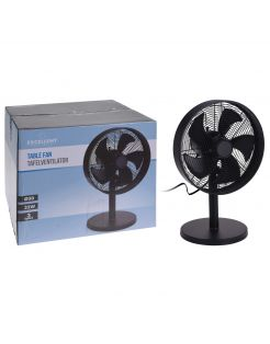 Homestyle Ventilator Tafel Model - Ventilator - Ø30 cm Zwart
