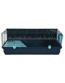 Zolux Indoor2 Konijnen- En Knaagdierenkooi - Dierenverblijf - 64x104x39 cm Blauw Donkergrijs Knaagdierenkooi