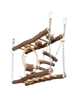 Trixie Natural Living Hangbrug - Speelgoed - 27x17x7 cm