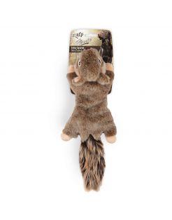 All For Paws Eekhoorn - Hondenspeelgoed - 42x16x9 cm Bruin