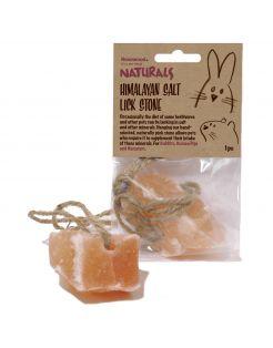 Rosewood Naturals Himalaya Salt Lick Stone - Knaagdiersnack - 9x4x15 cm 90 g