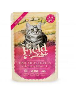 Sam's Field Kitten Maaltijdzakjes True Meat Filets - Kattenvoer - Kip Kalkoen Broccoli 85 g