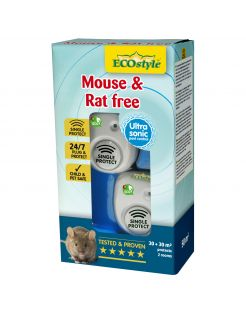 Ecostyle Mouse & Rat Free - Ongediertebestrijding - 30+30 m2 2 stuks