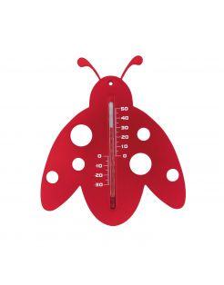 Nature Muurthermometer - Lieveheersbeestje - Thermometer - Rood