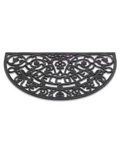 Hamat Rubbermat Halfrond - Deurmat - 45x75 cm Zwart