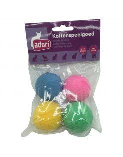 Adori Spons Ballen - Kattenspeelgoed - Assorti 4 stuks