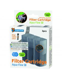 Superfish Aquaflow 50 Filter Crystal Clear Cartridge - Filtermateriaal -