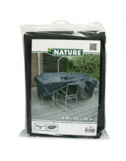 Nature Hoes Voor Tuinset Rechthoekig - Tuinmeubelen - 90x225x143 cm Grijs
