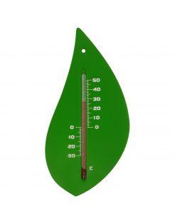 Nature Muurthermometer - Boomblad - Thermometer - Groen