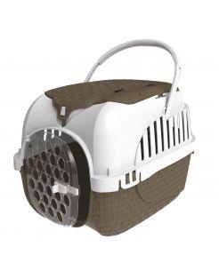 Bama Pet Transportbox - Kattenvervoersbox - 52x33x34 cm Taupe