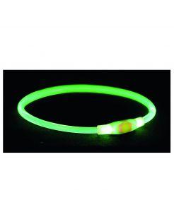Trixie Usb Flash Lichtgevende Band - Hondenveiligheidslampje - 65xØ 0.8 cm Groen L-Xl