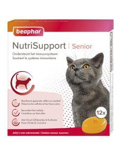 Beaphar Nutrisupport Senior - Voedingssupplement - Ouderdom - Dementie - 12 stuks