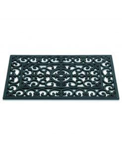 Hamat Rubbermat Lilly - Deurmat - 45x75 cm Zwart