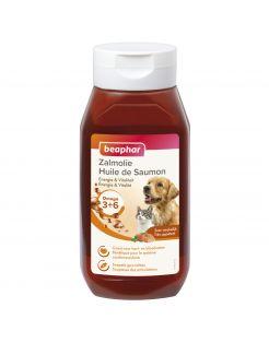 Beaphar Zalmolie - Voedingssupplement - Huid - Vacht - Zalm 430 ml