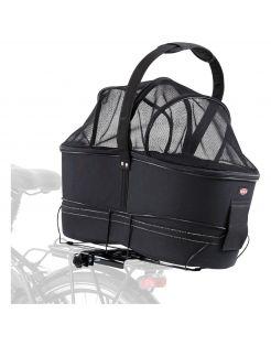 Trixie Fietsmand Long Voor Brede Bagagedragers - Hondenfietsaccessoires - 29x49x60 cm Zwart