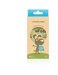 Earth Rated Poepzakjes Navulling Box Verteerbaar Geurloos - Hondenpoepzakjes - 7 x 3.8 x 15.6 cm 0.2 kg Wit 4 rol