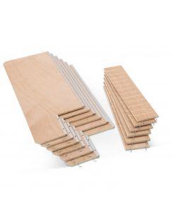 Savic Houten Plankenset Tasmania 120 - Dierenverblijf - 69x29x12 cm Houtkleur
