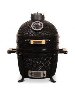 Patton Premium Kamado 15 Table Black - Grill - Barbecue - Ø 34 cm Zwart