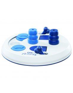 Trixie Dog Activity Flip Board Strategiespel - Hondenspeelgoed - Ø23 cm Donkerblauw Wit Lichtblauw 1 stuk