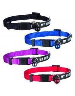 Trixie Halsband Met Adreslabel - Kattenhalsband - 21 cm Multi-Color