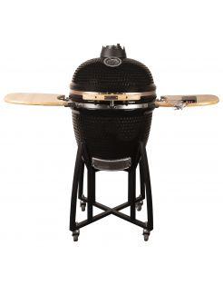 Patton Premium Kamado 21 Black - Grill - Barbecue - Ø 47 cm Zwart Zilver