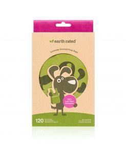 Earth Rated Poepzakjes Lavendel Met Handvat - Hondenpoepzakjes - 17.7x34.2 cm Groen 120 stuks