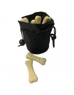 Adori Snackbag Met Karabijnhaak - Hondensnackzak - 9x7 cm Zwart