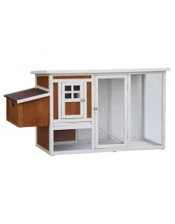 Homestyle Kippenhok Mansion - Kippenhok - 168x65x88 cm Naturel Wit