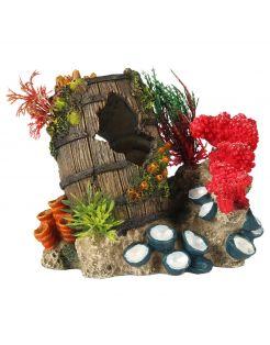 Aqua Della Gezonken Artefact - Aquarium - Ornament - 15.3x11.6x13.7 cm