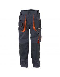 Terra Trend Job Heren Werkbroek - Werkkleding - Donkergrijs Zwart Oranje D Gr /Zw/Or 46