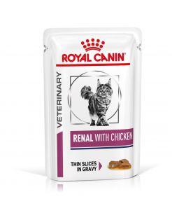 Royal Canin Veterinary Diet Renal Chicken Wet - Kattenvoer - 12x85 g