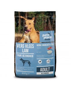 Pets Place Fresh Adult Lam En Rijst - Diepvriesvoer - 800 g