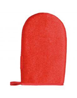 Trixie Pluizen-Handschoen. Dubbelzijdig - Anti-haar borstel - Rood