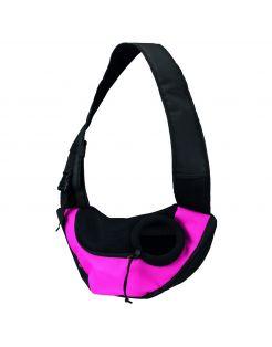 Trixie Buikdrager Sling - Hondendraagtas - 50x25x18 cm Roze Zwart