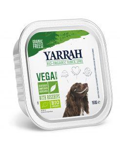 Yarrah Bio Hondenvoer Alucup  Brokjes Vega Met Rozenbottels - Hondenvoer - 150 g