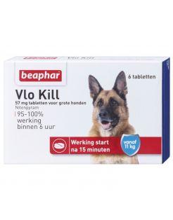 Beaphar Vlo Kill Hond Boven 11kg - Anti vlooienmiddel - 6 tab