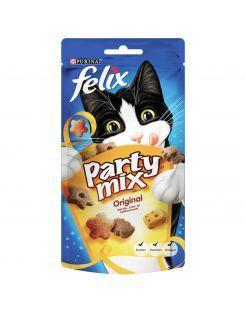 Felix Party Mix Original - Kattensnack - Vlees 60 g