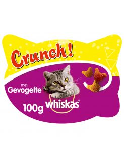 Whiskas Crunch - Kattensnack - Kip Kalkoen Eend 100 g