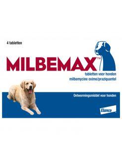 Elanco Milbemax Hond - Anti wormenmiddel - 4 tab 10 Tot 75 Kg