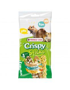 Versele-Laga Crispy Sticks Triple Variety Pack - Knaagdiersnack - Mix 3x55 g Omnivoren