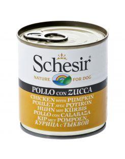 Schesir Hond Blik Gelei 285 g - Hondenvoer - Kip&Pompoen