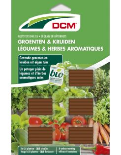 Dcm Meststofstaaf Groente & Kruiden - Moestuinmeststoffen - 25 stuks